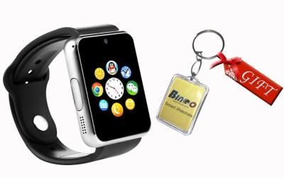 Bingo T50 Silver Smartwatch (Black Strap)