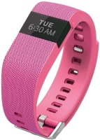 Flipfit Fitness Band HEART RATE MONITOR BLUETOOTH CALL NOTIFICATION 3D Pedometer Temperature Calorie Monitor Band Tracker PINK Smartwatch (Pink Strap)