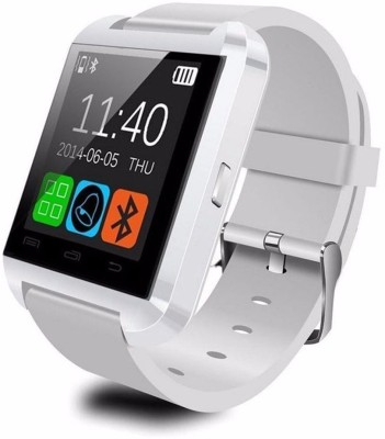 Influx ™ U-8 Imported Bluetooth Inteligente® White Smartwatch (White Strap Free Size)