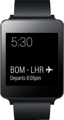 LG W100 Smartwatch (Black Strap)