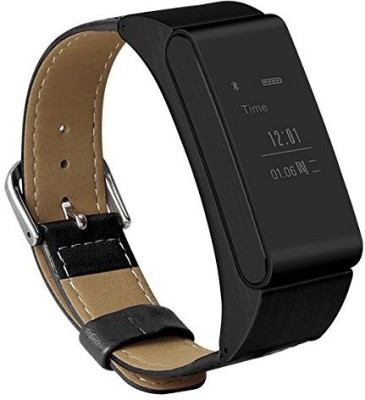 NoWhereElse Smart iBand M8 With Bluetooth Headset Earphone Passometer Sync For IOS Android Black Smartwatch (Black Strap)