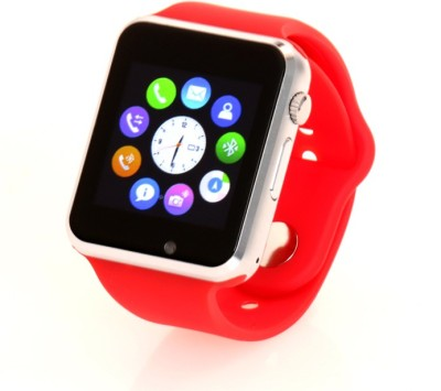 LIFE LIKE A1 BLUETOOTH WITH SIM CARD & SD CARD SUPPORT Smartwatch (Red Strap)