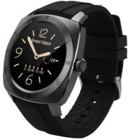 Wayona Bluetooth Smart Watch Heart Rate Monitor Round Dial Wristwatch For Android And IOS Smart Wearable Jazz Black Smartwatch (Black Strap)
