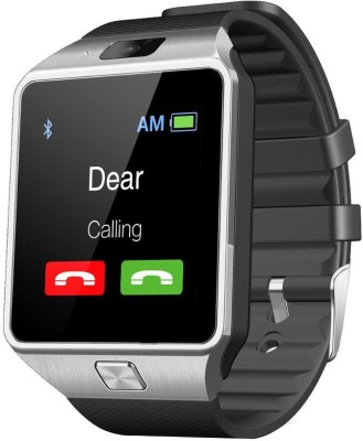 Bingo T30 Silver Sim Compatible With Bluetooth Synchronisation Smartwatch (Black Strap)