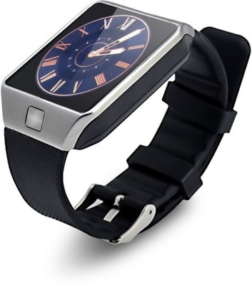 Bingo T30 Silver Bluetooth Notification Smartwatch (Black Strap)