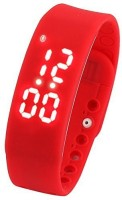 Flipfit Fitness BanD 3D PeDometer Sleep Temperature Calorie Monitor Time Display Silicon Without SpeeDometer Smartwatch (Red)