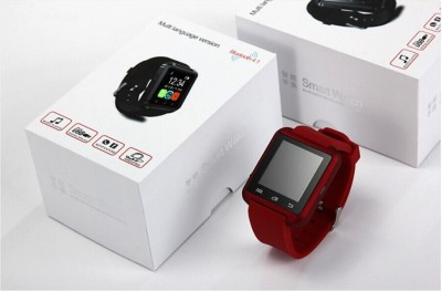 Hari Krishna Enterprise HK1008 Smartwatch (Red Strap)
