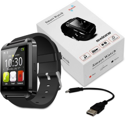 E LV Android-Touchscreen-Black Smartwatch (Black Strap)