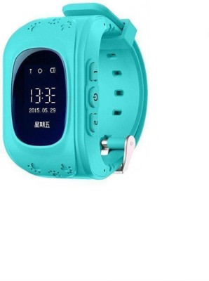 Shrih Kids Tracker Smart Wrist Watch with GPS And GSM System Smartwatch (Blue Strap L)