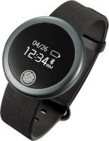 Fbandz S6 IP-65 Waterproof Bluetooth Heart Rate Monitor Fitness Band Black Smartwatch (Black Strap Free Size)