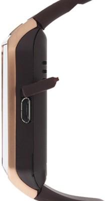 ROOQ DZ09 Smartwatch (Brown Strap)