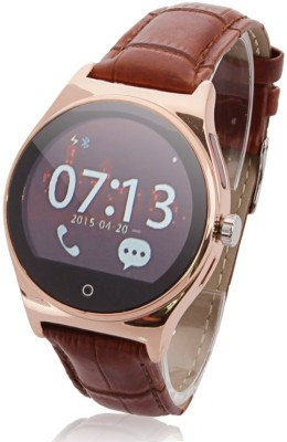 SPOT DEALZ SD – Leather Band Smartwatch (Brown Strap)