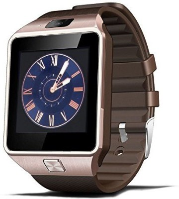 Zigmo DZ09 Smartwatch (Brown Strap)