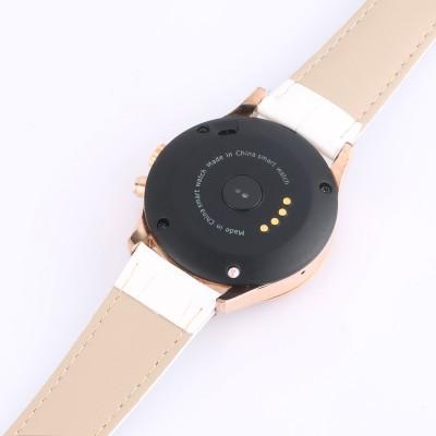 Bingo C2 White Heart Rate Monitoring Bluetooth Smartwatch (White Strap)
