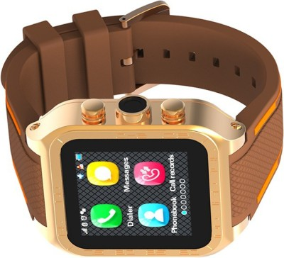 Bingo T-60 Golden Smartwatch (Brown Strap)