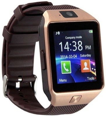 MM T30 Gold Bluetooth Notification Smartwatch (Brown Strap)