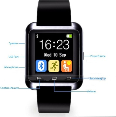 Smart Indie U8 Smartwatch (Black Strap)
