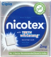 Nicotex 2mg Teeth Whitening Mint Flavour Nicotine Gum Pack 10 16 Hour Patch Smoking Patch (Pack Of 90)