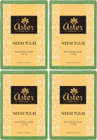 Aster Luxury Neem Tulsi Bathing Bar 125g - Pack Of 4 (500 G)
