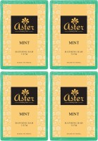 Aster Luxury Mint Bathing Bar 125g - Pack Of 4 (500 G)