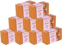 Khadi Mauri Papaya Soaps Large Pack Of 9 - Premium Handcrafted Herbal (1125 G)