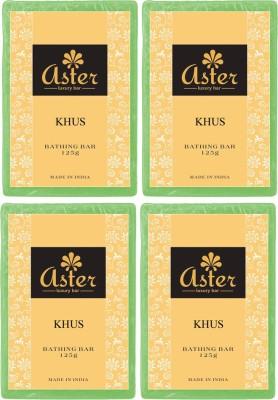 Aster Luxury Khus Bathing Bar 125g Pack of 4
