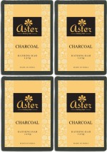 Aster Luxury Charcoal Bathing Bar 125g Pack of 4