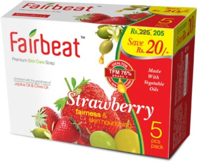 Fairbeat Strawberry Soap Enriched With Jojoba&Olive Oil