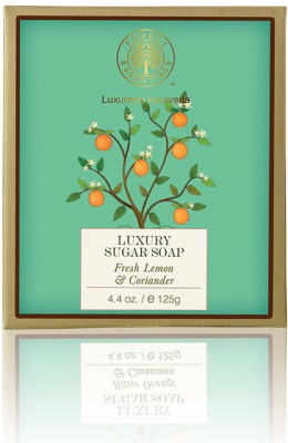 Forest Essentials Luxury Sugar Soap Fresh Lemon & Coriander Freebie