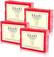 Khadi Natural Rose & Honey Loofah Soap (Sls / Paraben Free) (Set Of 4) (100 G)
