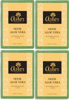 Aster Luxury Neem Aloe Vera Bathing Bar - Pack Of 4 (500 G)