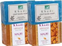 Khadi Mauri Almond & Mint Soaps Twin Pack Of 4 Herbal Ayurvedic Natural (500 G)