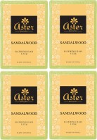 Aster Luxury Sandalwood Bathing Bar 125g - Pack Of 4 (500 G)