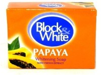 Block & White Papaya Whitening Soap (120 G)