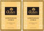 Aster Luxury Handmade Lemongrass Citrus Soap 125g Pack of 2