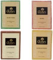 Aster Luxury Premium Gift Set Of Bathing Soaps - Pack Of 4 (Rose Sandalwood Aloe Vera Lavender) (500 G)
