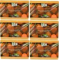 Lass Naturals Orange And Lemangrass Handmade Soap (Pack Of 6) (750 G)