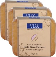 VLCC Basil & Mulberry Insta Glow Fairness Bathing Bar-Pack Of 3 (375 G)