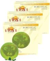 Iha Ayurvedic Footcare BORO HEAL Soap - With Scrub - Pack Of 3 (300 G)