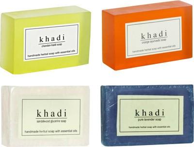 Khadi Handmade Soap Combo 2 Pack Of 4 Price In India Buy Khadi Handmade Soap Combo 2 Pack