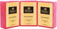 Aster Luxury Strawberry Bathing Bar 125g - Pack Of 3 (375 G)