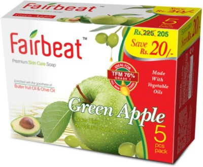 Fairbeat Green Apple Soap Enriched With Butter Fruit& Olive Oil