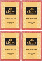 Aster Luxury Strawberry Bathing Bar 125g - Pack Of 4 (500 G)