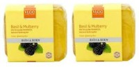 VLCC Basil & Mulberry Insta Glow Fairness Natural Bathing Bar - Bath & Body (Pack Of 2 ) (250 G)