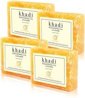 Khadi Natural Lemon & Honey Loofah Soap (Sls / Paraben Free) (Set Of 4) (100 G)