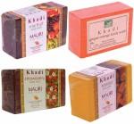 Khadi Mixed Fruit Ginger Mango Strawberry Sandal Soaps Combo Pack of 4 Premium Handcafted Herbal