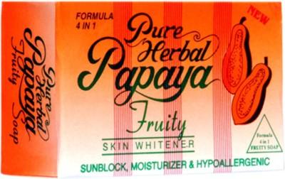 Pure Papaya Herbal Fruity 4 IN 1 Skin Whitening/Skin Fairness Soap (135 G)