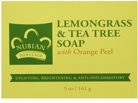 Nubian Heritage Lemongrass and Tea Tree Oil Soap Bar (4 Pack)