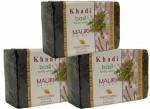 Khadi Mauri Basil Soap Pack of 3 Premium Handcafted Herbal