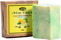 Aloe Veda Luxury Butter Bathing Bar - Tulsi & Lemon (125 G)